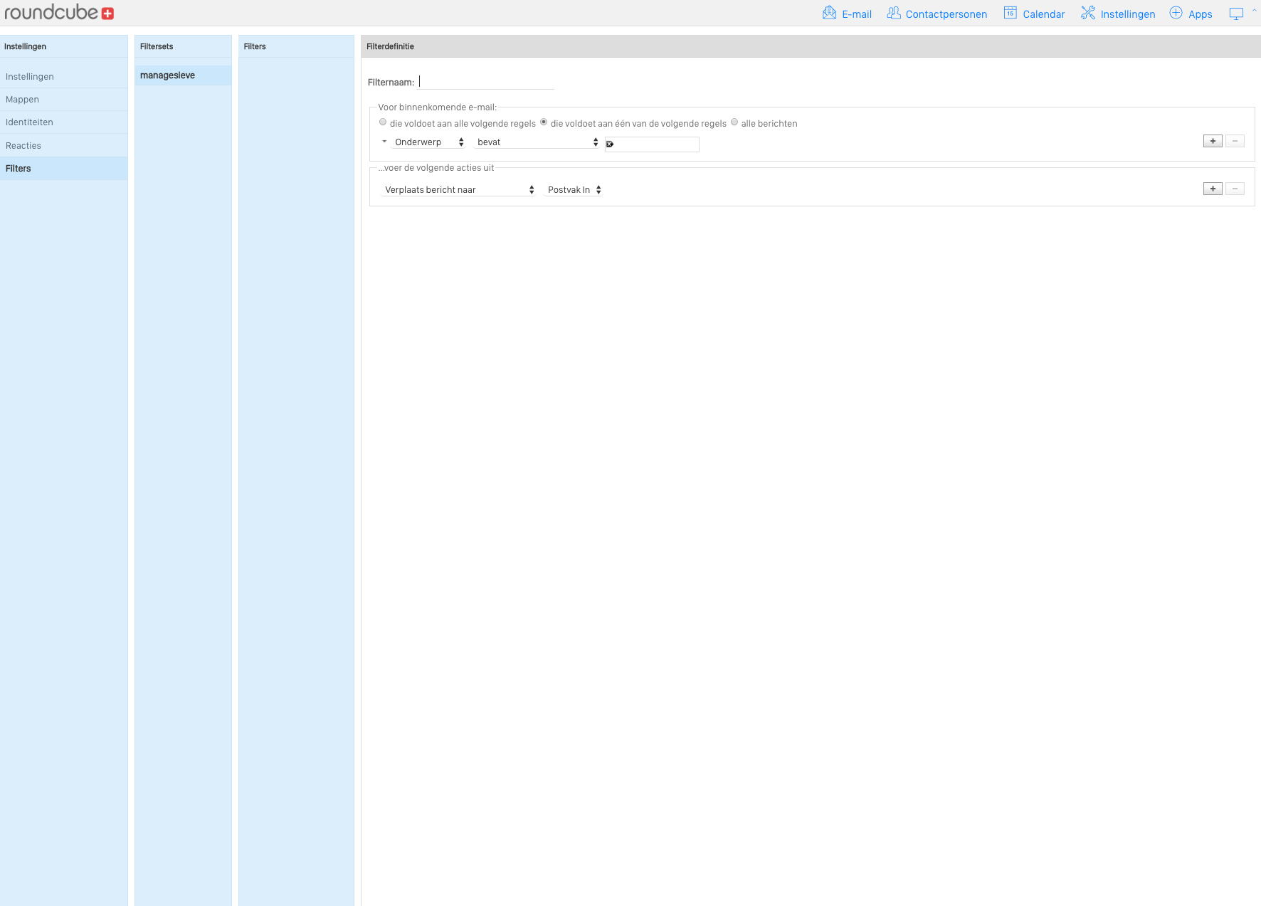 Vimexx email filters