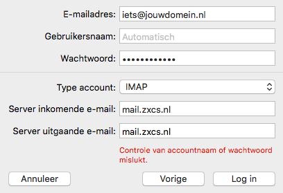 mail instellingen